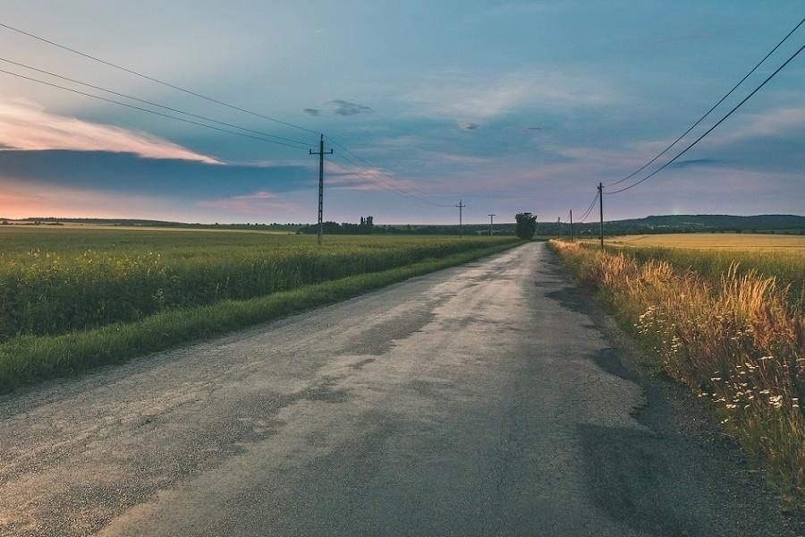 wiejska droga na podlasiu
