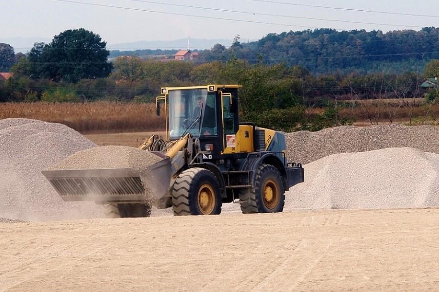 ładowarka z piaskiem
