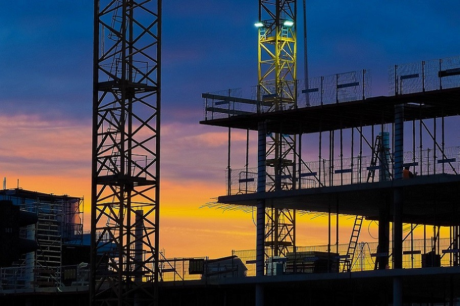 Trwająca budowa budynku