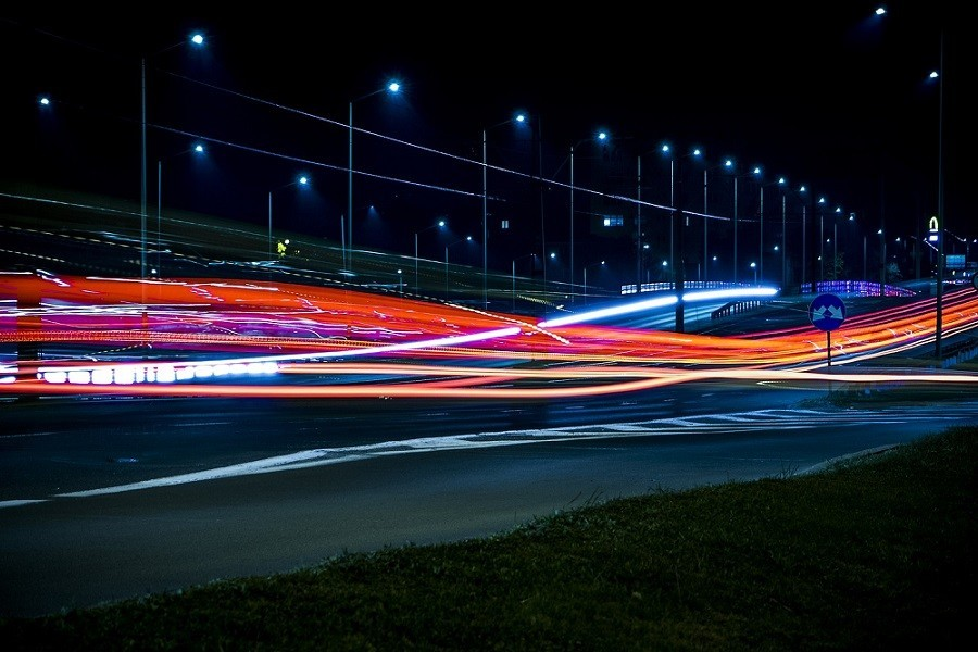 Światła na drodze
