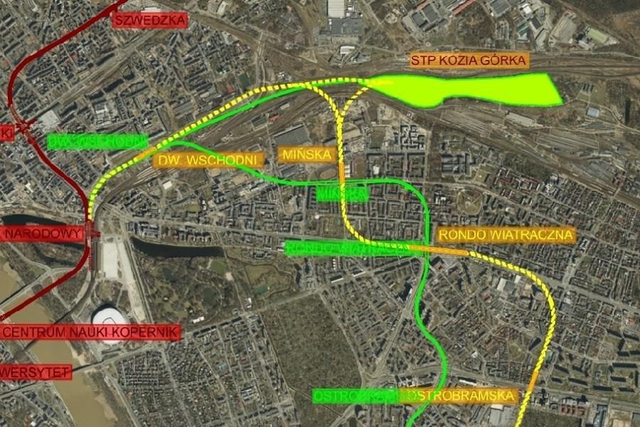 mapa metra