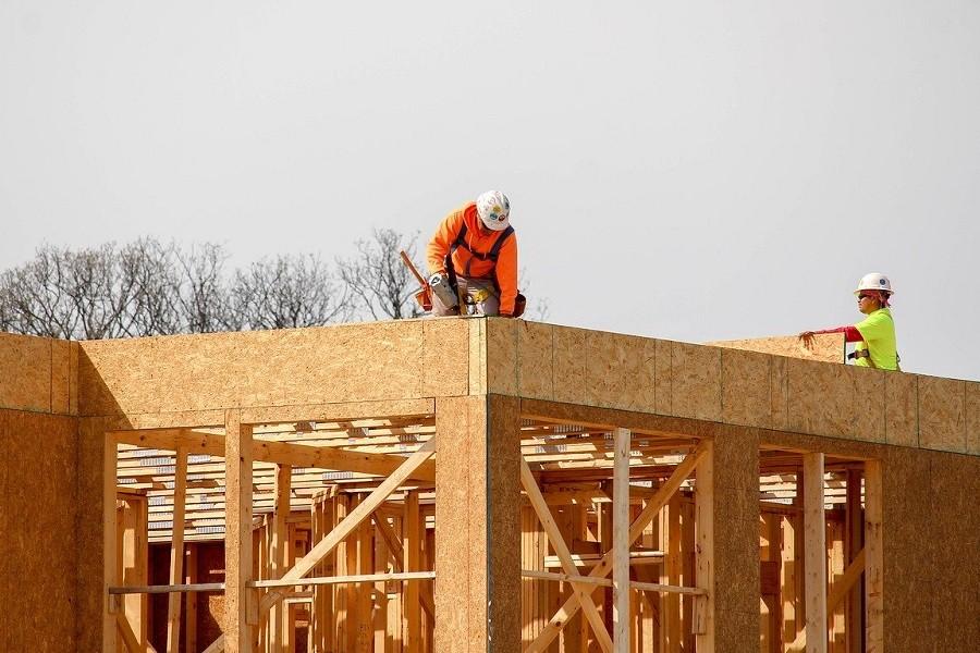 dom z drewna buduje dwoje ludzi