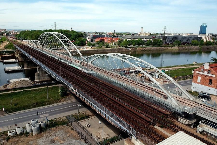 mosty kolejowe w krakowie
