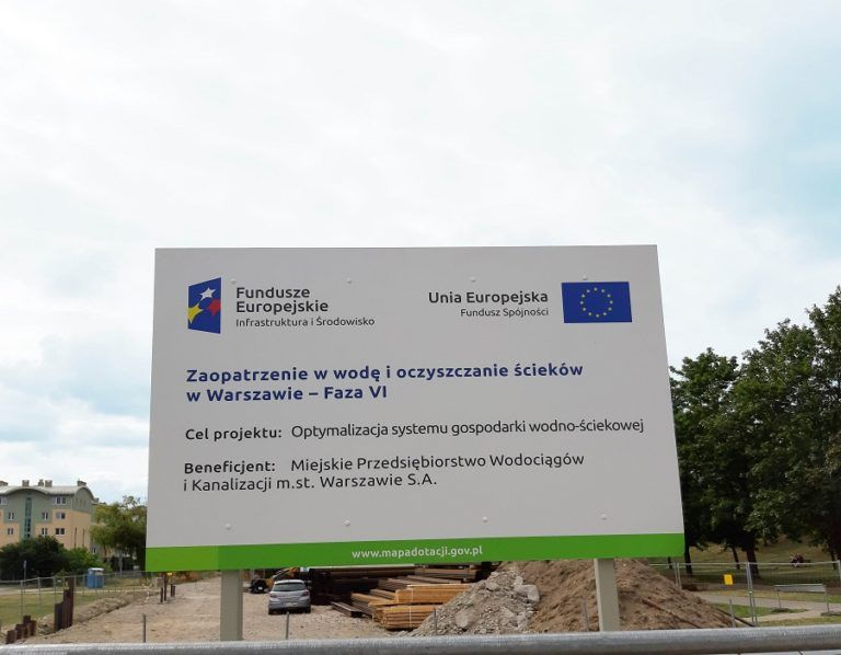Construction of the western collector in Warsaw is completed