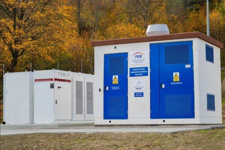 PGE launches the first electricity storage facility in Poland using Tesla Powerpack modules